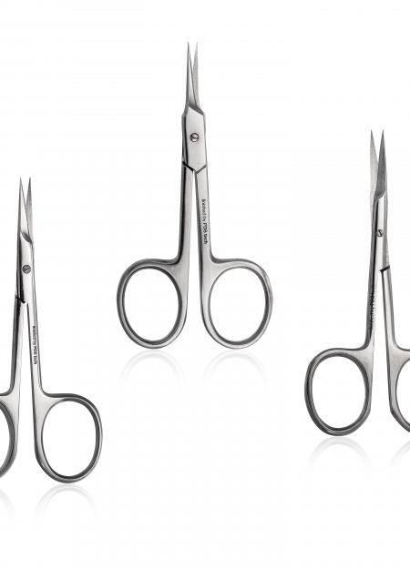 Sharpen the cuticle scissors
